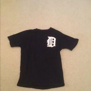 Navy Detroit tigers T - shirt